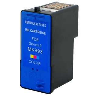 Remanufactured Dell Series 9, MK993 ink cartridge, high capacity yield, color