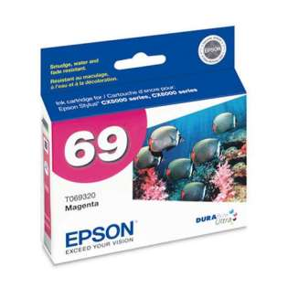 Epson 69, T069320 Genuine Original (OEM) ink cartridge, magenta