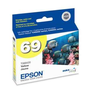 Epson 69, T069420 Genuine Original (OEM) ink cartridge, yellow