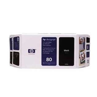 HP 80, C4871A Genuine Original (OEM) ink cartridge, black