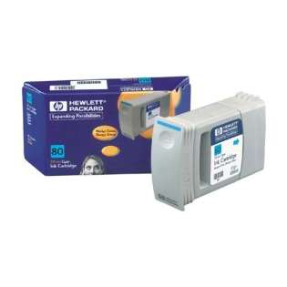 HP 80, C4872A Genuine Original (OEM) ink cartridge, cyan