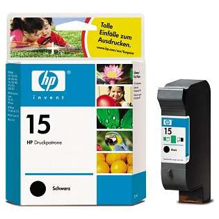 HP 15, C6615DN Genuine Original (OEM) ink cartridge, black