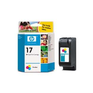 HP 17, C6625A Genuine Original (OEM) ink cartridge, tri-color