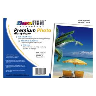 Postcard size DuraFirm Technology Photo Paper (20 sheets per pack)