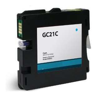 Replacement for Ricoh 405533 / GC21C cartridge - cyan