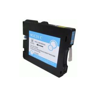 Compatible Ricoh GC31C, 405689, gel ink cartridge, cyan, 1920 pages