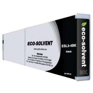 Compatible Roland ESL3-4BK Eco-Sol Max ink cartridge, black