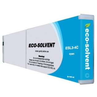 Compatible Roland ESL3-4C Eco-Sol Max ink cartridge, cyan