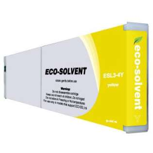 Compatible Roland ESL3-4Y Eco-Sol Max ink cartridge, yellow
