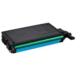 Compatible Samsung CLT-C508L toner cartridge, 5000 pages, high capacity yield, cyan