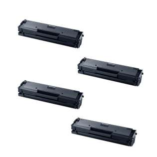 Compatible Samsung MLT-D111L toner cartridges - high capacity black - 4-pack