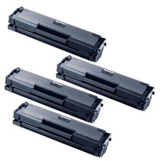 Compatible Samsung MLT-D111S toner cartridges - black - Pack of 4