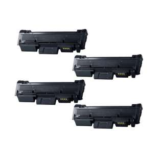 Compatible Samsung MLT-D118L toner cartridges - black - (pack of 4)