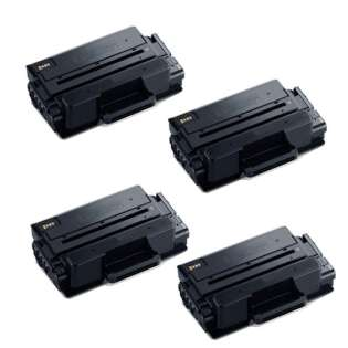 Compatible Samsung MLT-D203E toner cartridges - extra capacity black - Pack of 4