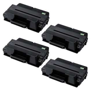 Compatible Samsung MLT-D205L toner cartridges - high capacity black - Pack of 4
