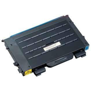 Compatible Samsung CLP-500D5C toner cartridge, 5000 pages, cyan