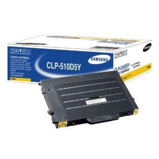 OEM Samsung CLP-510D5Y cartridge - yellow